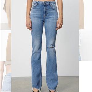 NWT Zara flared ripped jeans